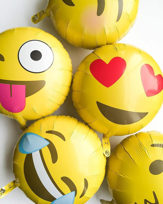 emoji baby shower balloons