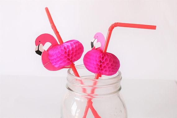 Cute Flamingo Straws