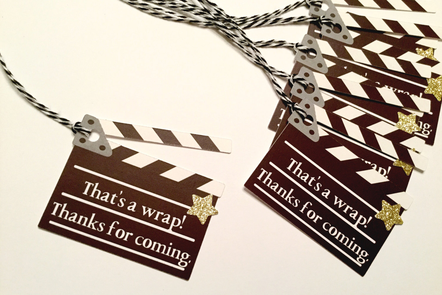 Hollywood Party Favor Tags
