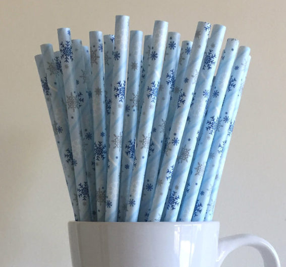 baby its cold outside baby shower paper straws