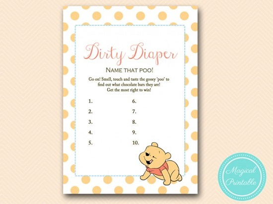 winnie the pooh dirty diaper game