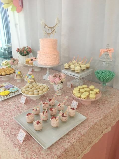 floral-tea-party-baby-shower-pink-cake