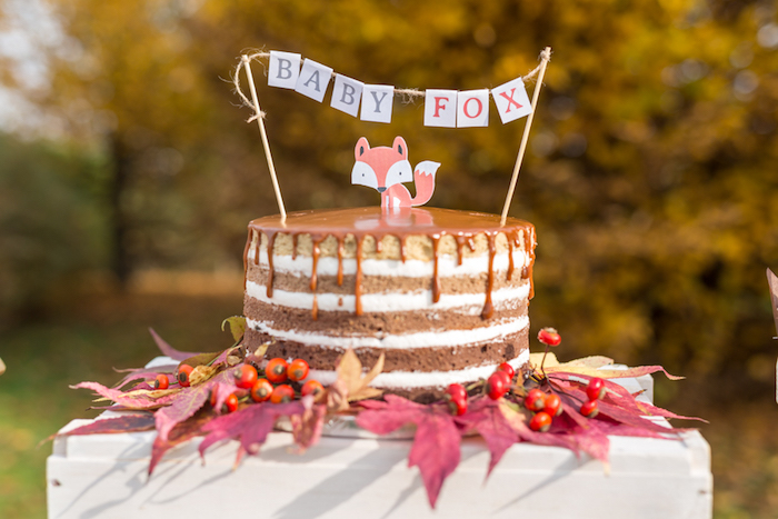 little-fox-fall-baby-shower-cake