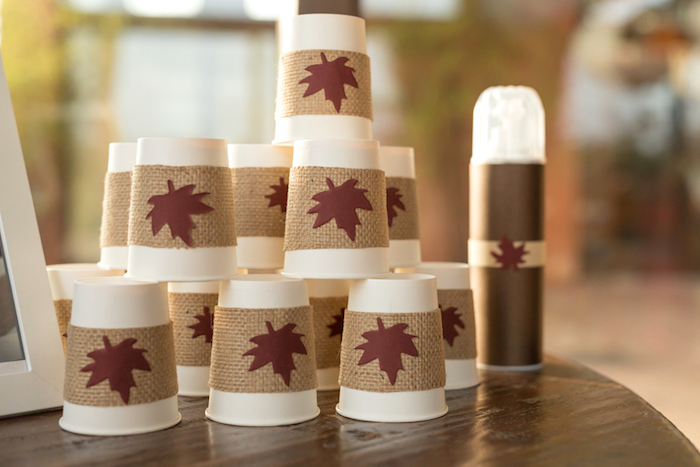 little-fox-fall-baby-shower-cup-tower