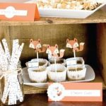 Fox Themed Baby Shower Decorations and Party Favors