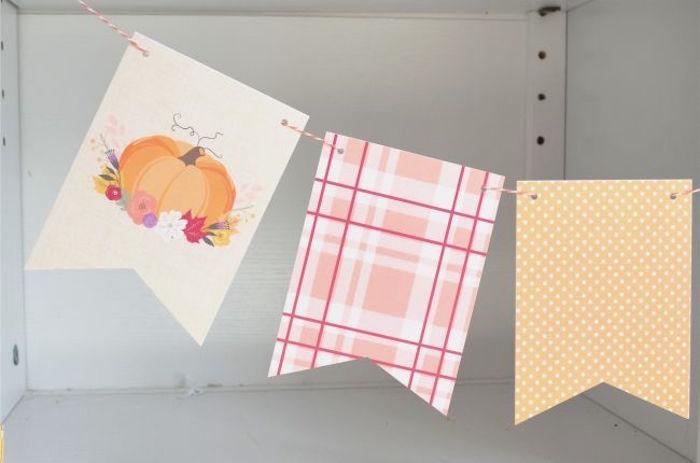 sweet-little-pumpkin-baby-shower-flag-banner