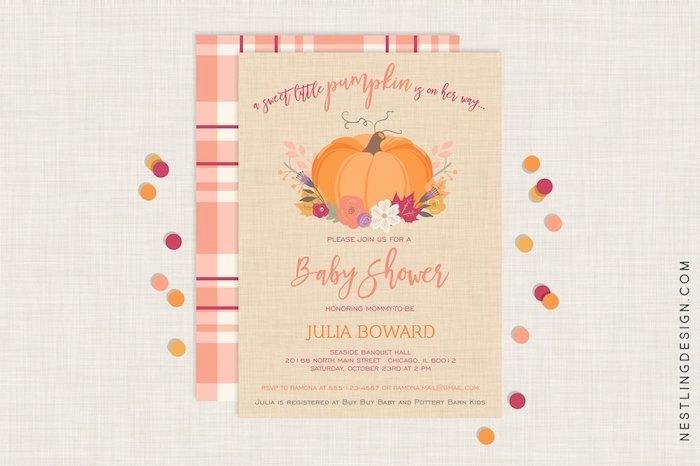 sweet-little-pumpkin-baby-shower-invitations