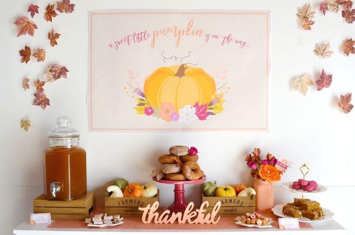 sweet-little-pumpkin-baby-shower-snack-table