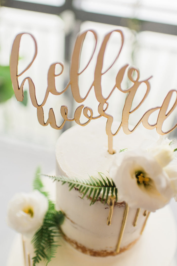 whimsical-hello-world-baby-shower-golden-topper