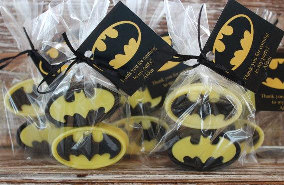 batman baby shower soap favors