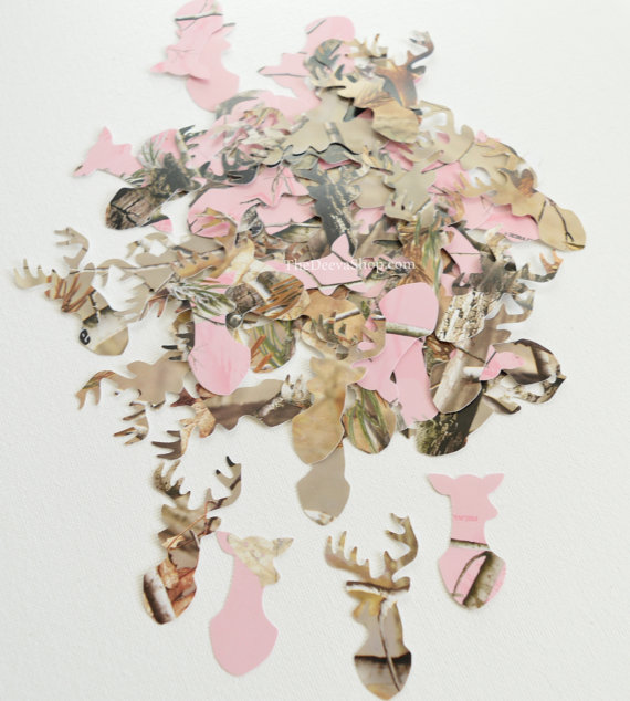 pink and realtree camo confetti