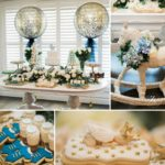 Elegant Blue and Gold Prince Baby Shower