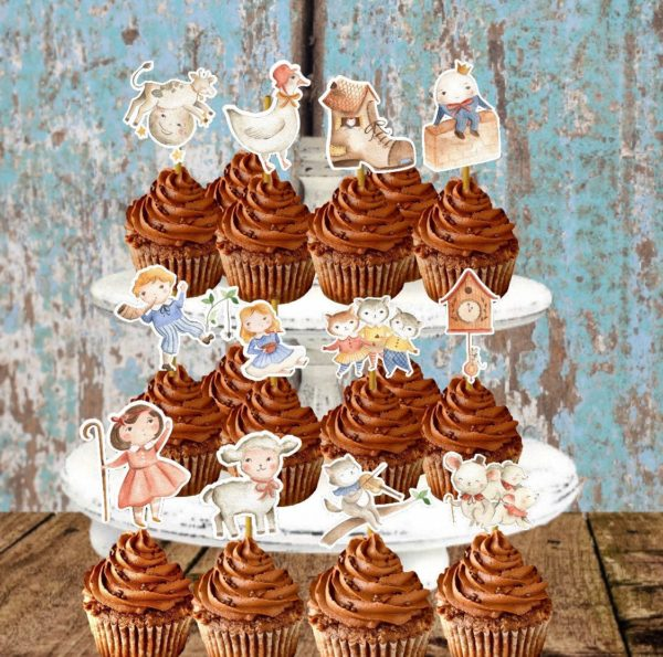 mother-goose-nursery-rhymes-cupcake-toppers