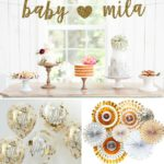 Silver and Gold Baby Shower Decorations and Party Favors