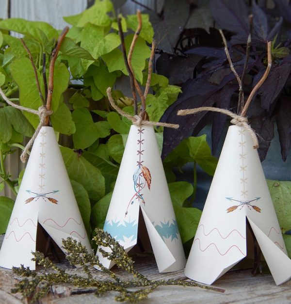 tribal-boho-baby-shower-tepee-decoration