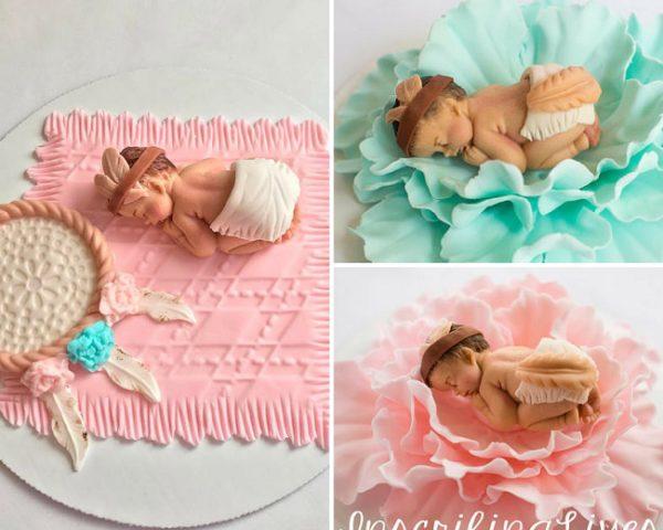 tribal-baby-shower-cake-topper