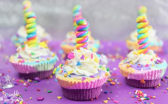 Unicorn Ice Cream Cupcakes