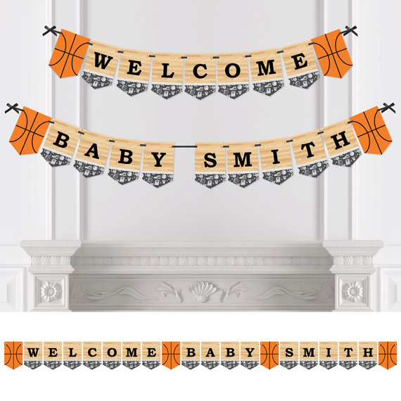 basketball baby shower banner