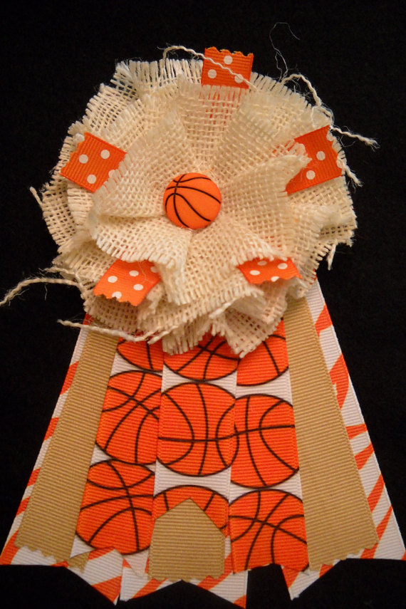 basketball baby shower corsage