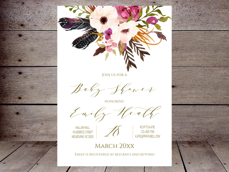 boho-feathers-baby-shower-invitation-editable