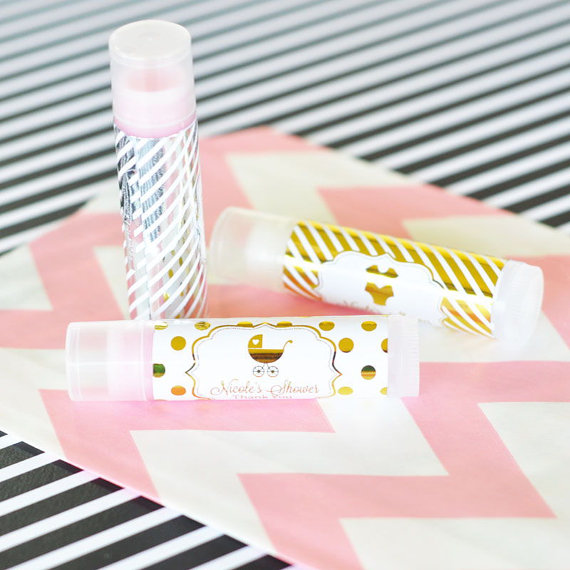 Gold Baby Shower Favor chapstick