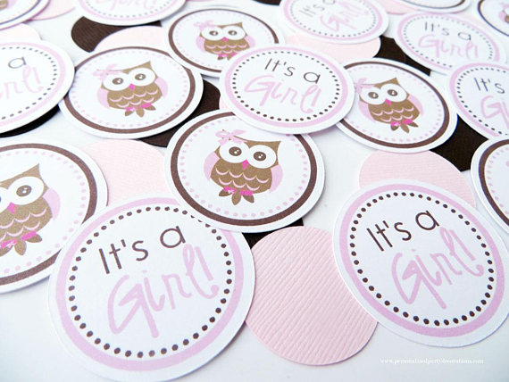 owl baby shower favor confetti