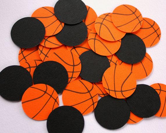 basketball baby shower decor confetti
