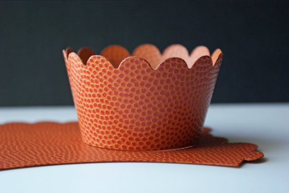 basketball baby shower cupcake wrappers