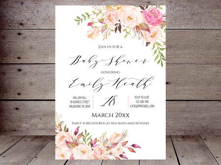 editable-boho-floral-baby-shower-invitation