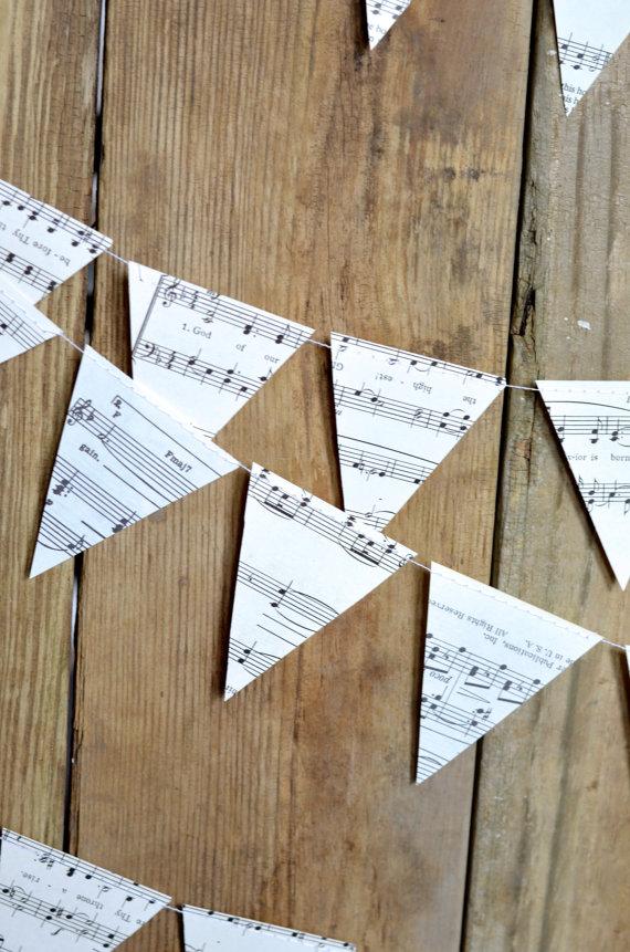 Music baby shower banner