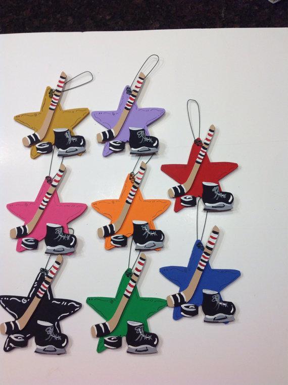 hockey baby shower favor ornaments