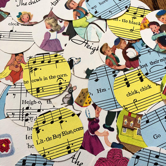 musical baby shower confetti