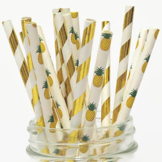 summer pineapple straws