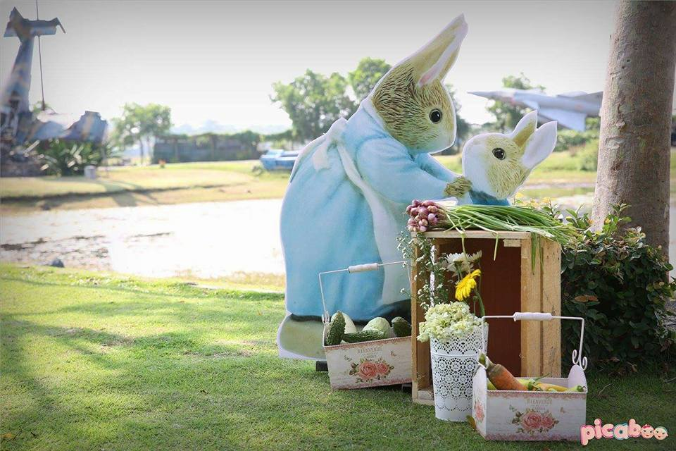 elegant-peter-rabbit-cutout-display