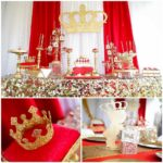 Red and Gold Royal Affair Baby Shower