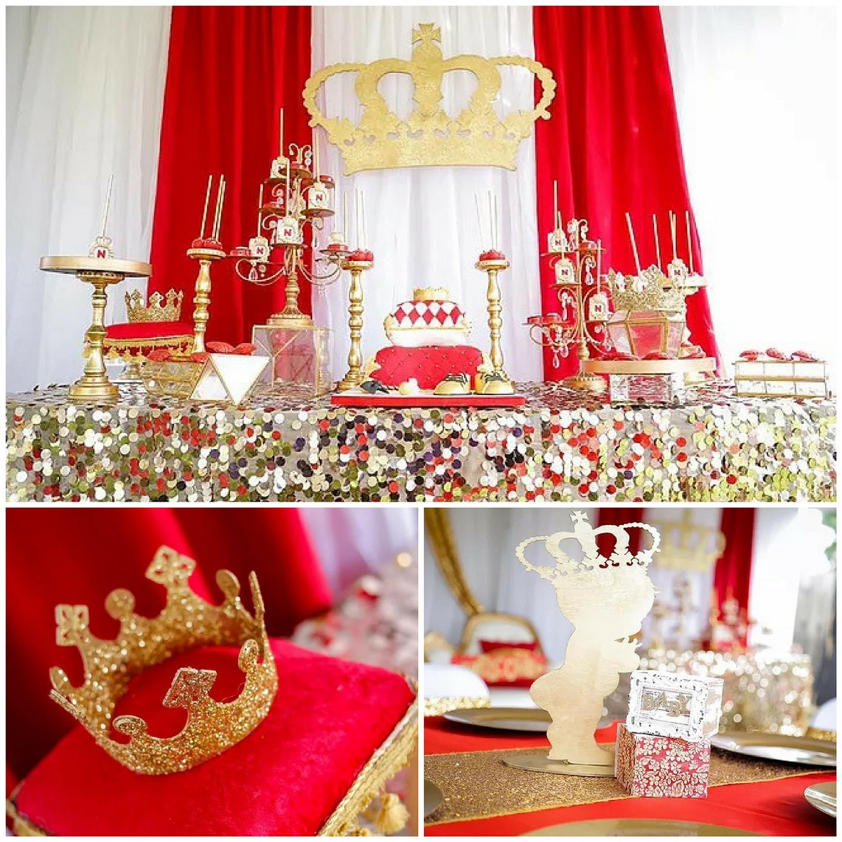 gold-red-royal-affair-baby-shower