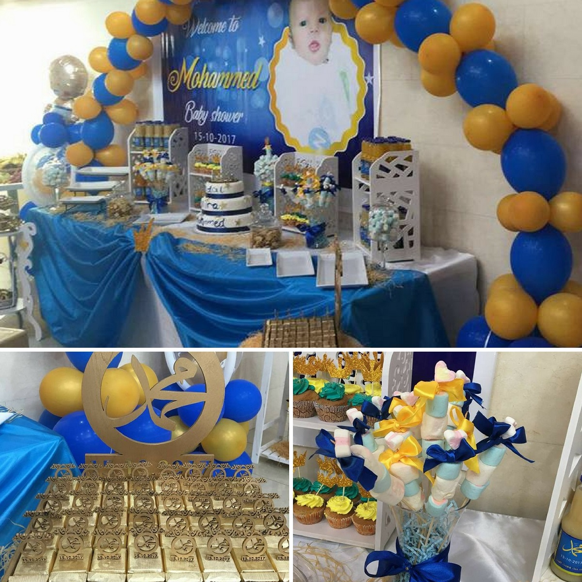 gold-and-navy-royal-prince-baby-shower