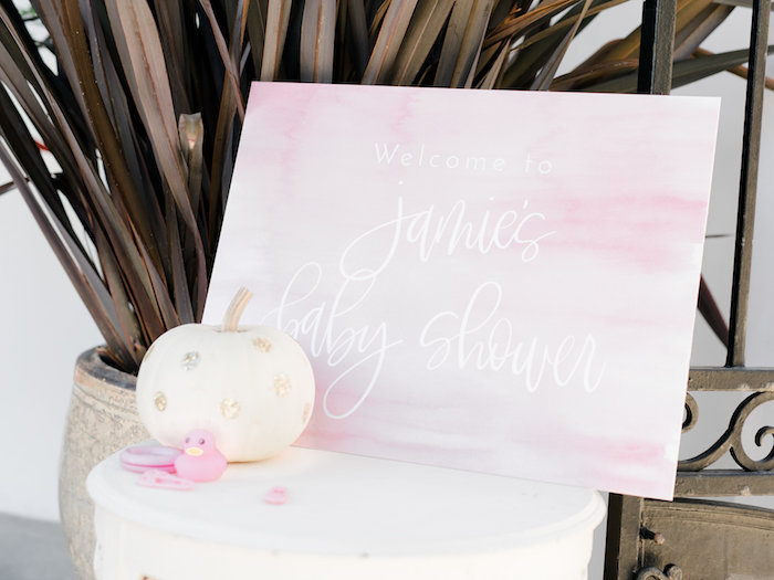 pretty-little-pumpkin-baby-shower-welcome-sign