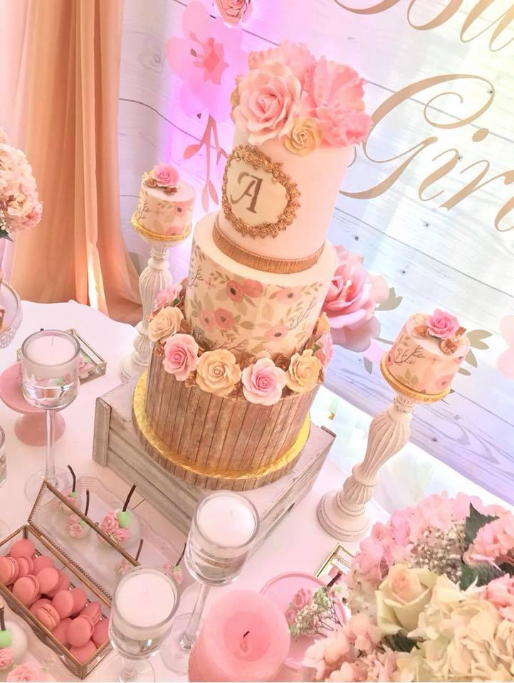 pretty-pink-and-floral-baby-shower-stunning-cake