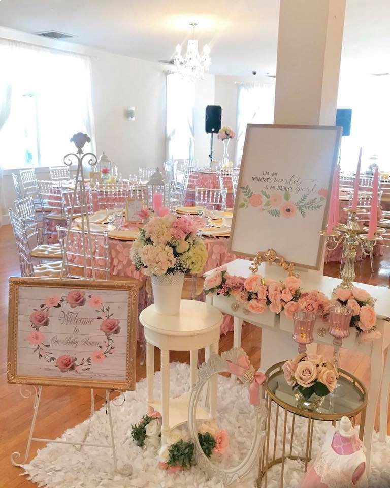pretty-pink-and-floral-baby-shower-welcome