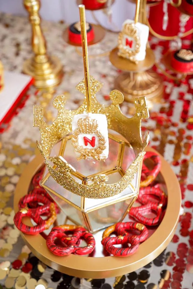 red-and-gold-royal-prince-baby-shower-treats