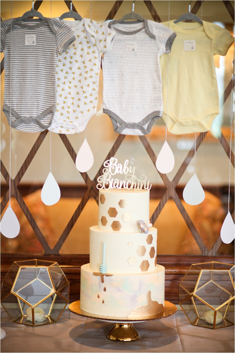stylish-sweet-as-can-bee-shower-cake