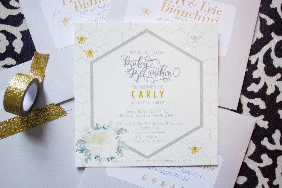 stylish-sweet-as-can-bee-shower-invitations