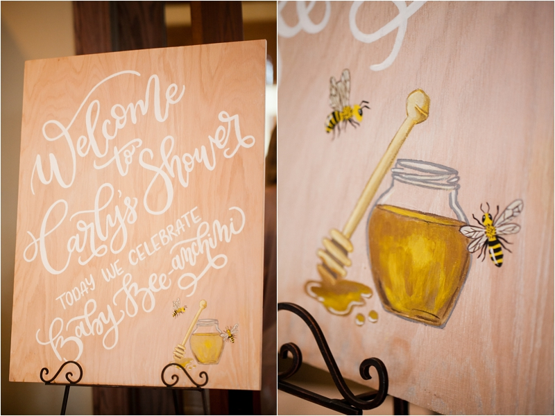 stylish-sweet-as-can-bee-shower-welcome-sign