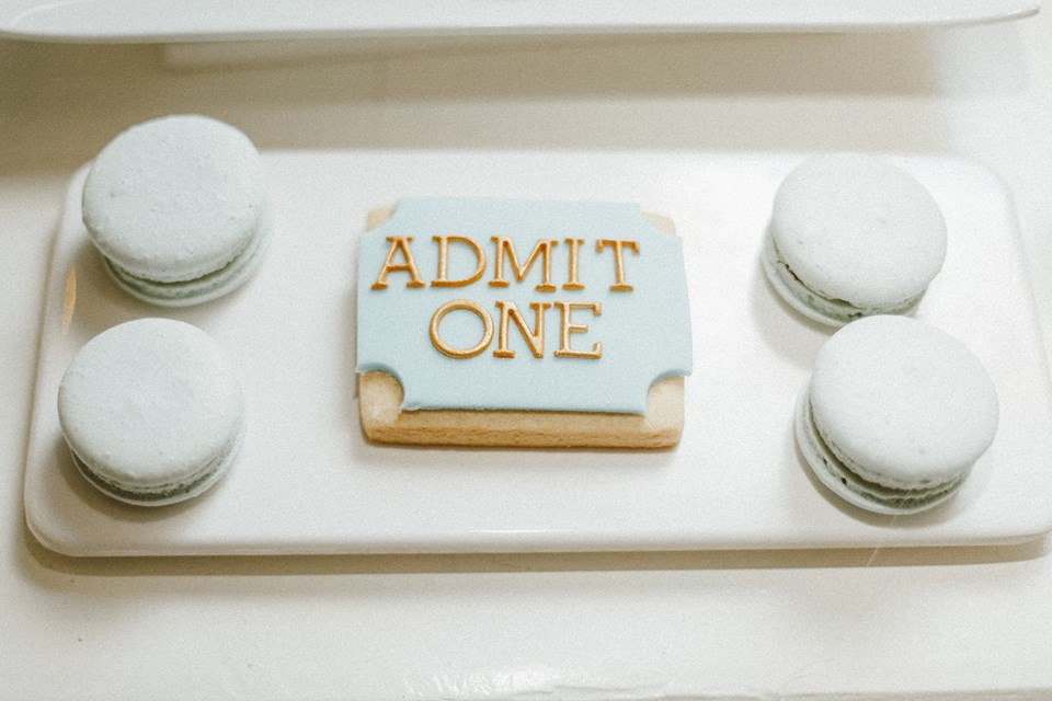 blue-carousel-baptism-baby-shower-dessert-station-admit-one-cookies