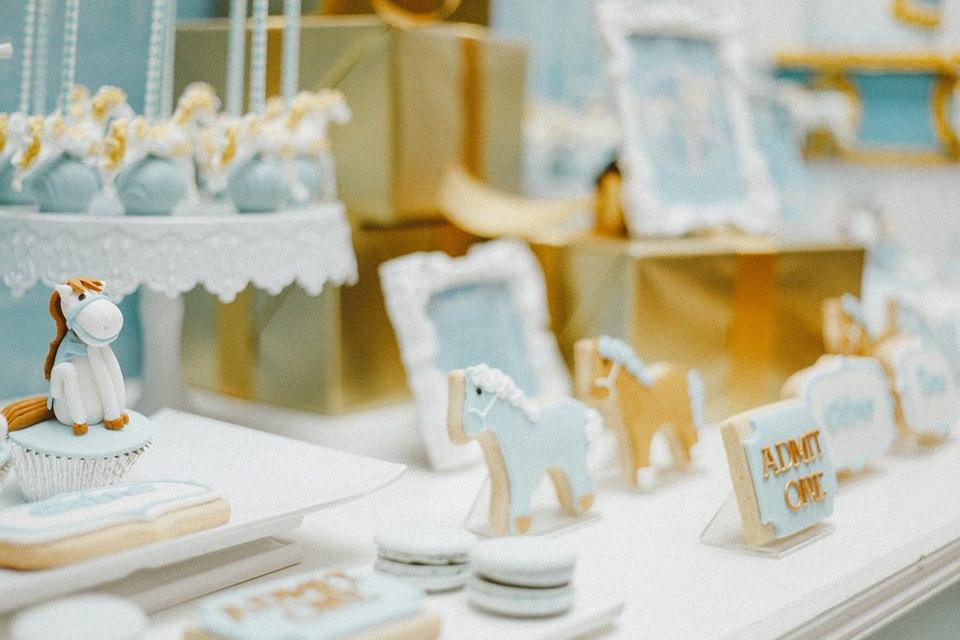blue-carousel-baptism-baby-shower-dessert-station-setup