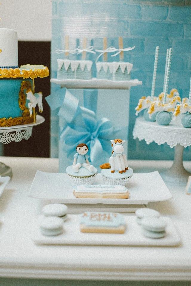 blue-carousel-baptism-baby-shower-dessert-station-sweet-food-ideas
