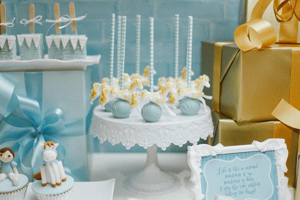 blue-carousel-baptism-baby-shower-dessert-station-treats