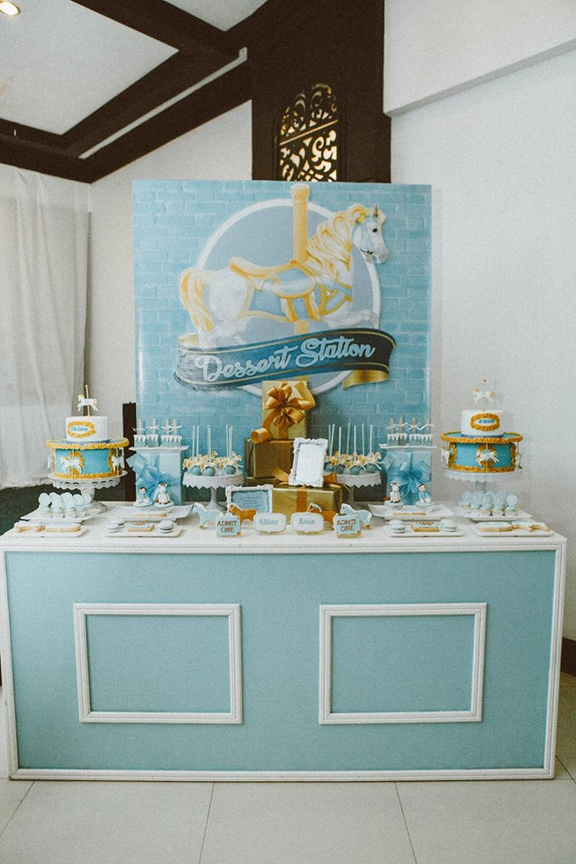 blue-carousel-baptism-baby-shower-dessert-station