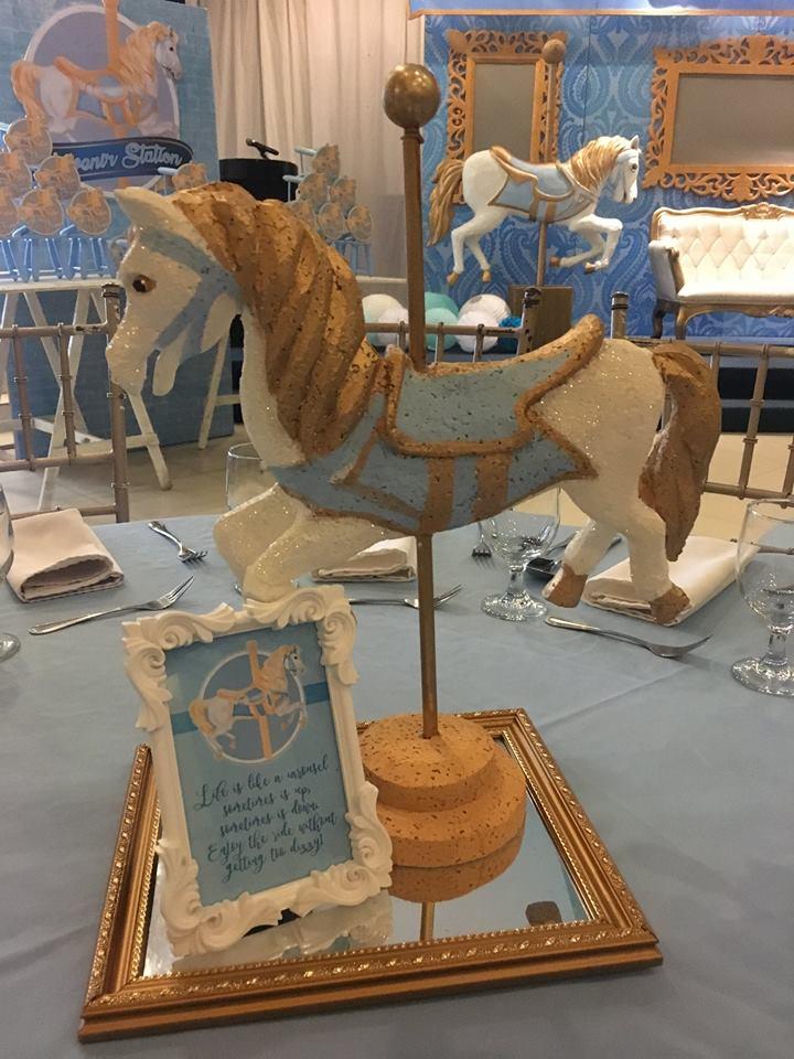 blue-carousel-baptism-guest-table-centerpiece